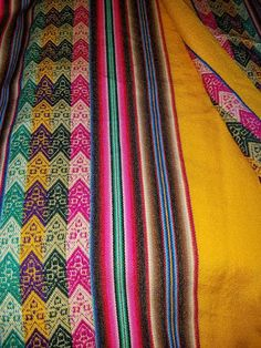 Yellow Andean decor Blanket