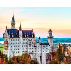 fairytale that you must visit. The seven places are: Neuschwanstein Castle Germany Located at Schwangau Village. Number Art, Paint By Number Kits, Wisteria Tunnel Japan, Glowworm Caves New Zealand, Las Vegas, Sea Of Stars, Stone Road, Destinations, Hills And Valleys