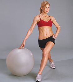 Stability Ball Workouts    Weight Press    A low-impact way to tone your arms, chest, and shoulders, the weight press is a totally fine exercise for after work, when you can barely keep your head up but don't want to skip your workout.