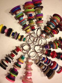 Schlüsselanhänger Knöpfe und Perlen