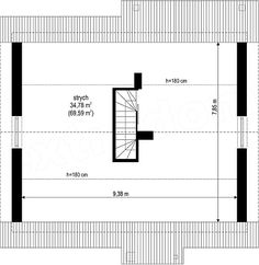 Projekt domu Kajtek 65,77 m2 - koszt budowy 109 tys. zł - EXTRADOM Floor Plans, Floor Plan Drawing, House Floor Plans