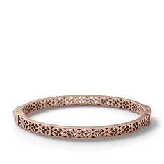 FOSSIL - signature bangle in rose gold.