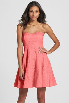 'Avery' Lace Fit & Flare Dress by Donna Morgan on @nordstrom_rack