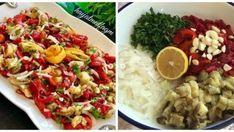 Közlenmiş Patlıcan Salatası Tarifi Roasted Eggplant Salad, Roast Eggplant, Pasta Salad, Cobb Salad, Salad Recipes, Cake Recipes, Cake Ingredients, Kefir, Tart