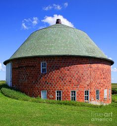 One Vernon County Barn in a Circle of Red Wisconsin Brick.
