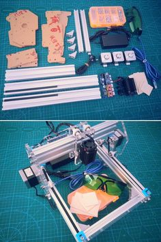 1.6W Desktop DIY Violet Laser Engraver Engraving Machine Picture CNC Printer Assembling Kits Sale - Banggood.com