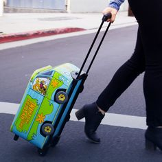 Exclusive Mystery Machine rolling luggage! #travel #jetset #luggage #scooby
