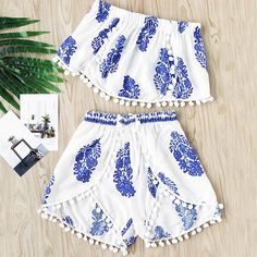 Summer Women Two Piece Set