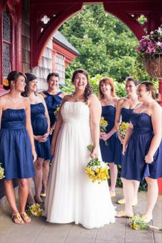 More David's Bridal dresses in Marine Cute wedding!