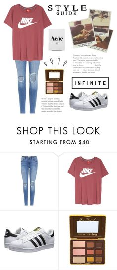 """""""Taylor swift (RTD)"""" by switchkid ❤ liked on Polyvore featuring Frame, NIKE, adidas Originals, Too Faced Cosmetics and Old Navy"""