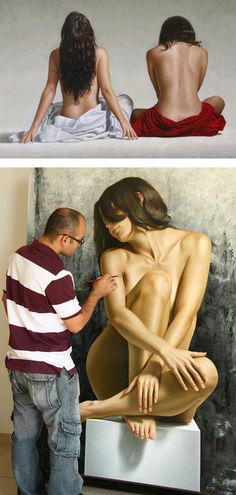 Hyper-Realistic Nude Paintings by Omar Ortiz | Inspiration Grid | Design Inspiration #art #painting