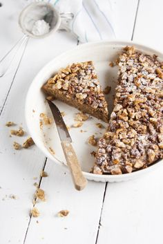 Gluten Free Quinoa Cake with walnuts (I will try Pecans!)