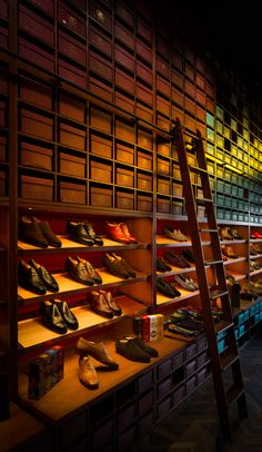 Melbourne's super swanky shoe store, Double Monk, with added whisky