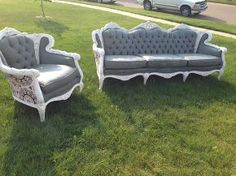 couch chair set paint upholstery antique, painted furniture, repurposing upcycling