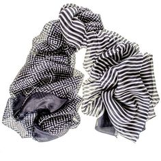 Black Midnight Navy and White Oversize Superfine Silk Shawl ($97) ❤ liked on Polyvore featuring accessories, scarves, short scarves, silk shawl, striped scarves, shawl scarves and silk scarves