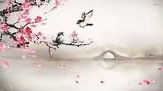 16007-sparrows-on-the-cherry-tree-1920x1080-artistic-wallpaper.jpg (1920×1080)