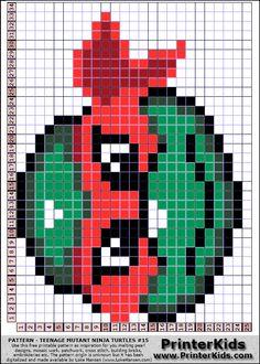 TMNT perler bead pattern (just change colors)