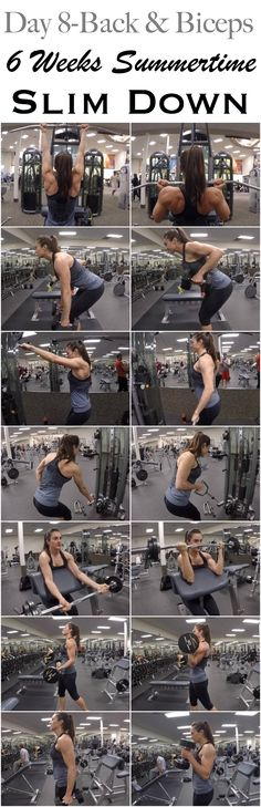 6 WEEKS SUMMERTIME SLIM DOWN: DAY 8-BACK & BICEPS