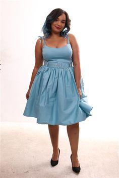 Robe Swing, Swing Dress, Blue Dresses, Summer Dresses, Clothes, Fashion, Vintage Dress, Dress Blues, Dress Ideas