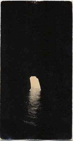 Could you imagine how beautiful this would be at sunrise or sunset if this opening was pointing due east or west? Amazing!  Masao Yamamoto
