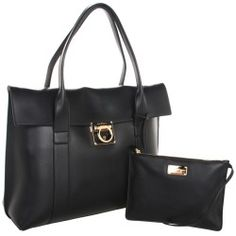 Salvatore Ferragamo - Sookie (Nero/Almond) - Bags and Luggage - product - Product Review