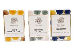 Pure Goat Soapworks Oatmeal Milk  Honey Fresh Lemongrass and Tea Tree Goat Milk Soap 3pack -- This is an Amazon Affiliate link. Check this awesome product by going to the link at the image.