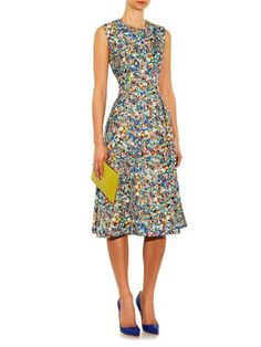Roksanda Molten-print sleeveless dress