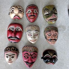 A few old Javanese masks in our collection. www.kulukgallery.com #oldmasks #topeng #antique #indonesianantique