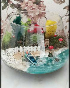 Mini Terrarium, Fairy Terrarium, Succulent Terrarium, Terrarium Wedding, Terrarium Ideas, Garden Items, Garden Gifts, Fairy Crafts, Diy And Crafts