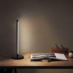 "Ebern Designs Fenny 18.1"" Black Table Lamp with Outlet | Wayfair Black Desk Lamps, Sunken City, Office Lamp, Small Tables, Strobing, Light Colors, Bulb, Lights, Interior Design"