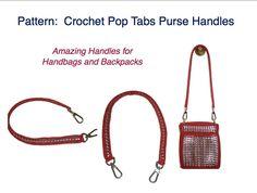 PDF PATTERN - How to Crochet a Pop Tab Purse Handle Tutorial. via Etsy.