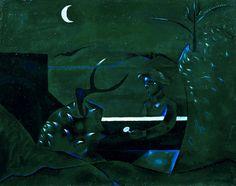 John Craxton, 'Dark Landscape' 1944-5