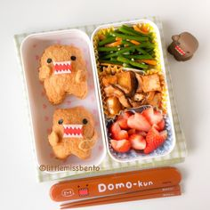 Domo kun bento Post your bento pics with #myanimelife in the description and they'll appear on myanimelife.com
