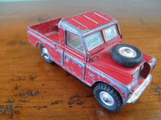 "Vintage 1959 Red Corgi Toy Land Rover 109"" W.B., Made in Great Britain"