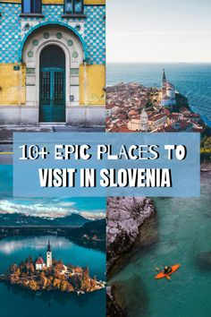 EUROPE TRAVEL Epic places to visit in Slovenia including Lake Bled, Ljubljana, Piran and many more! Visit Slovenia, Slovenia Travel, Slovenia Tourism, Bled Slovenia, Europe Travel Guide, Travel Guides, Europe Packing, Backpacking Europe, Packing Lists