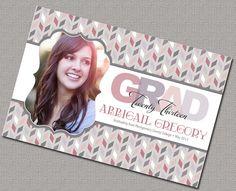 2013 Graduation Invitation, Senior Graduation, College Graduation #2013Graduation #Announcements #Invitations
