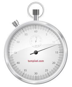 Tutorial: Create a vector stop watch icon