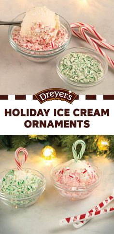 A Christmas decoration that you and your kids can enjoy as a dessert—this recipe for Holiday Ice Cream Ornaments is almost too good to be true! See how Dreyer's Slow Churned light ice cream in the flavor of your choice and crushed candy canes combine to make these festive treats with your kids.