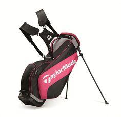TaylorMade Golf 2015 3 0 Golf Stand Carry Golf Bag - Black Grey Fuschia
