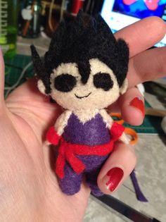 Son Gohan from Dragon Ball Z felt craft handmade