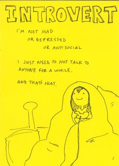 Does that make me an introvert?  I'm not sure, but it's totally something I do!