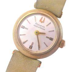 Bulova Accutron 14 K Gold Ladies Watch - COLLECTOR'S ITEM, circa 1971 found at www.rubylane.com @rubylanecom