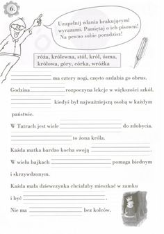 Użyj STRZAŁEK na KLAWIATURZE do przełączania zdjeć Learn Polish, Polish Language, Asd, Worksheets, Knowledge, Classroom, Learning, Children, Speech Language Therapy