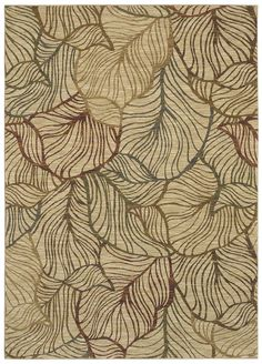 """Area Rug in the Tommy Bahama collection style """"Sunset Palms"""" color Ivory - by Shaw Floors"""