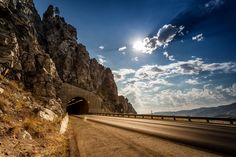 Almost home... Knapps Coulee tunnel on the way to Lake Chelan - Alt-97 by Chris Konieczny on 500px