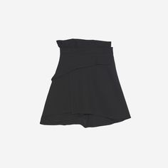Sandro short asymmetric skirt<br />  • Pleasant, flowing fabric <br />  • Asymmetric ruffle forming a panel that is slightly longer at the back <br />  • Concealed zip fastening<br />  • Model is wearing a size 1<br />
