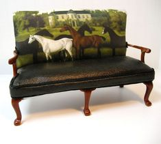 Reupholstered JBM Sofa - maybe for the fainting couch. If only to find the fabric. Equestrian Decor, Equestrian Style, Western Furniture, Painted Furniture, Royal Furniture, Unique Furniture, Poltrona Bergere, Wood Detail, Interior Decorating
