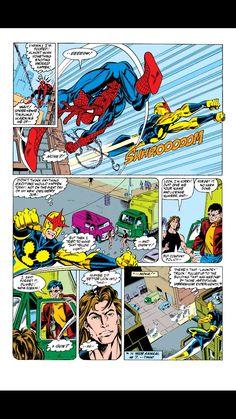 Mark Bagley - Amazing Spiderman #351 Spidey & Nova team up!