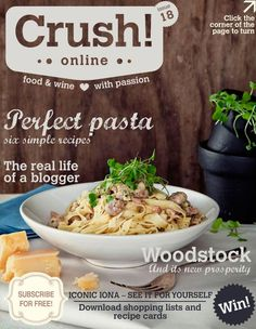 Online / issue 18 / food and wine magazine / recipe / pasta Wine Recipes, Pasta Recipes, Recipe Pasta, Food & Wine Magazine, Magazine Recipe, Food Poster Design, South African Recipes, Food Inspiration, Main Dishes