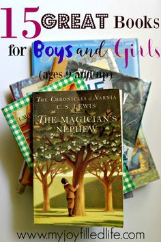 15 Great Book for Boys and Girls (ages 9+)